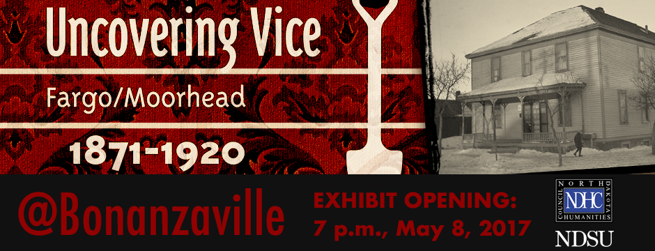 Banner promoting the Uncovering Vice Exhibit