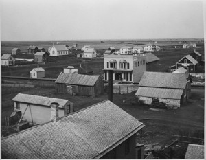 Northwest from Headquarters Hotel, Fargo, N.D., Downtown, 1880