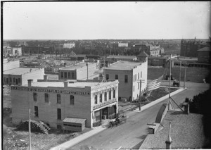 Looking southeast from the Fargo, N.D. Post Office Tower, 1898