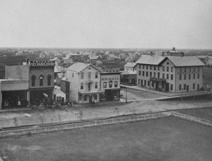 Commercial sidewalks on Front Street (Main st.), 1880