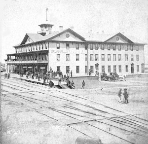 The Rebuilt Headquarters Hotel, 1874