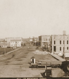 Broadway viewed from Front Street, Fargo, Dakota Territory