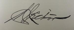 Martin Hector's Signature